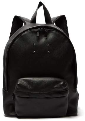 Maison Margiela Leather Backpack - Mens - Black