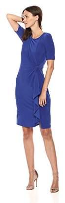 Adrianna Papell Women's Matte Jersey Draped Sheath Dress