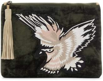 Sam Edelman Carol Embroidered Velvet Clutch