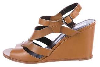 Sigerson Morrison Leather Wedge Sandals