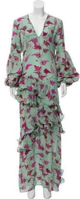 Johanna Ortiz Printed Maxi Dress magenta Printed Maxi Dress