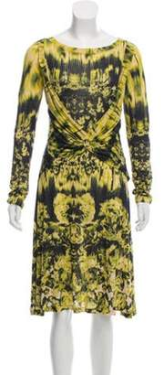 Jean Paul Gaultier Printed Long Sleeve Dress Green Printed Long Sleeve Dress