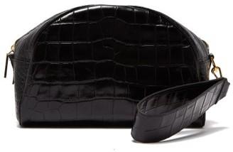 Hillier Bartley Crocodile Embossed Leather Clutch Bag - Womens - Black