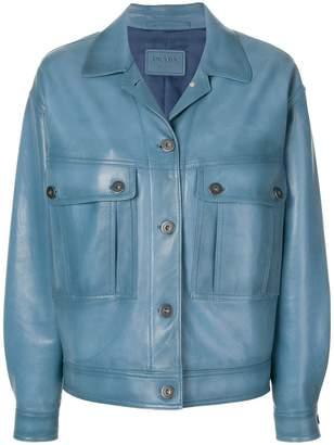 Prada Avio Leather Jacket