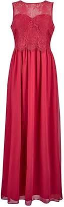 Dorothy Perkins Womens **Showcase Petite Red Grace Cranbury Maxi Dress