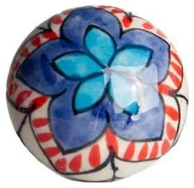 KNOB IT Set of Four Floral Ceramic Knobs