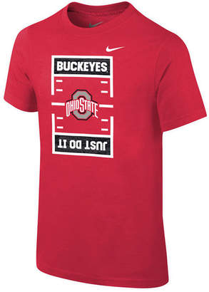 Nike Ohio State Buckeyes Just Do It Football T-Shirt, Big Boys (8-20)