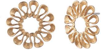 Trina Turk Vintage Flower Oversized Stud Earrings