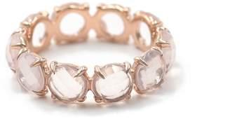 Bond Eye Bondeye 14k Rose Gold, Rose Quartz Eternity Ring