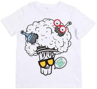 Stella McCartney Broccoli Printed Cotton Jersey T-Shirt