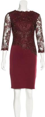 Tadashi Shoji Lace-Trimmed Sheath Dress $85 thestylecure.com