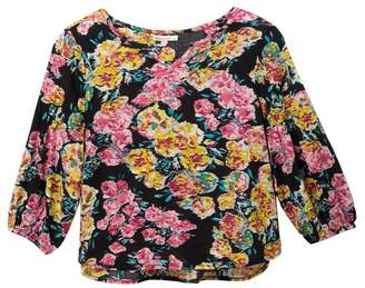 Ella Moss Floral Print Top (Big Girls)