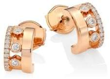 Möve Messika Romane 18K Rose Gold& Diamond Mini Creole Earrings
