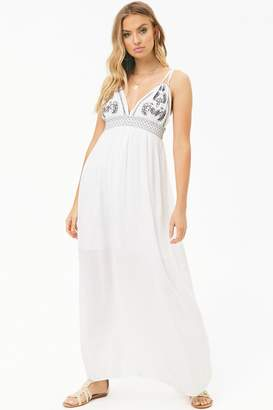 Forever 21 Boho Me Embroidered Maxi Dress
