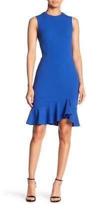 Donna Morgan Sleeveless Ruffle Sheath Dress