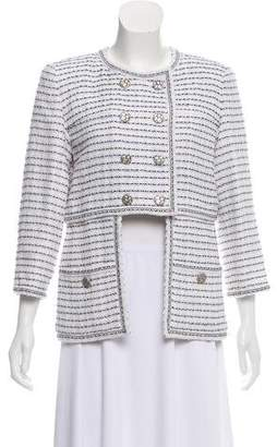 Chanel Double-Breasted Tweed Jacket