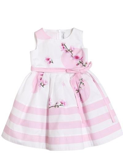 Simonetta Striped Cotton Poplin Dress