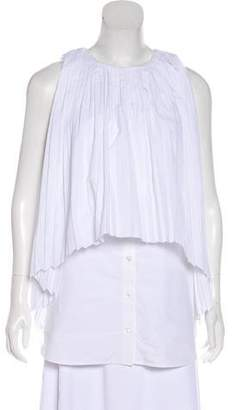 Monographie Pleated Sleeveless Blouse