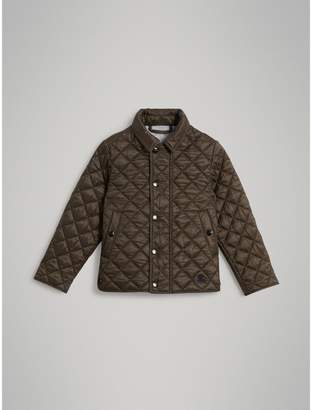 Burberry Lightweight Diamond Quilted Jacket , Size: 4Y