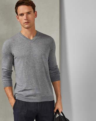 Ted Baker LIMEPIE Long sleeved cashmere blend V neck jumper