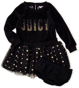 Juicy Couture Infant Girls) Black Velour Tutu Dress