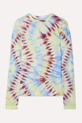 Tory Sport Tie-dyed Stretch-jersey Top - Blue