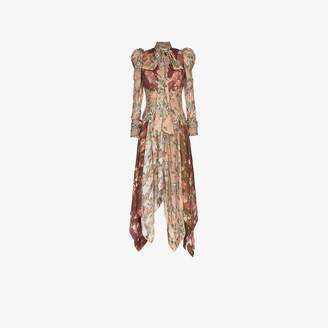 Zimmermann unbridled chevron silk dress