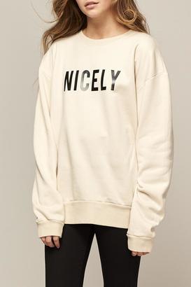 All Things Fabulous Nicely Boyfriend Sweatshirt $152 thestylecure.com