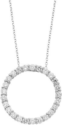 14k Gold 1 Carat T.W. IGL Certified Diamond Circle Pendant Necklace