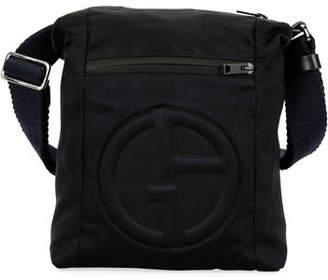 Giorgio Armani Men s Logo-Embossed Crossbody Bag 00ed5760a159a