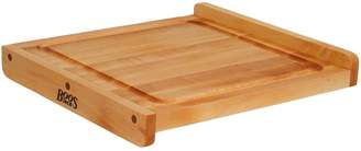 "John Boos & Co. Maple Edge-Grain Countertop Cutting Board with Juice Groove, 17"" x 17"" x 1"""