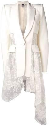 Alexander McQueen lace-drape corset jacket