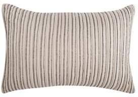 Elisabeth York Graphite Stripe Pillow