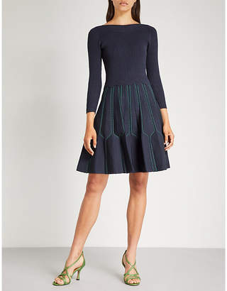 Sandro Fit-and-flare knitted dress