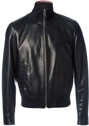 Bally zipped leather jacket