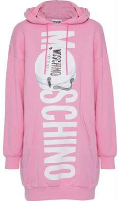 Moschino Printed Cotton-Blend Jersey Hooded Mini Dress
