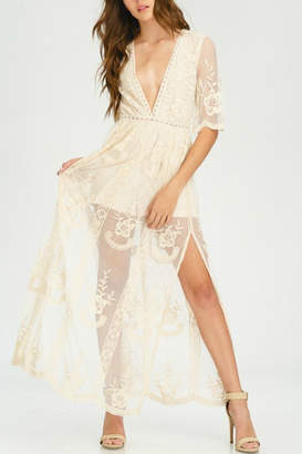 Pretty Little Things Lace Maxi Dress