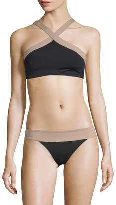 L-Space L'Space Women's Colorblock Bikini Top