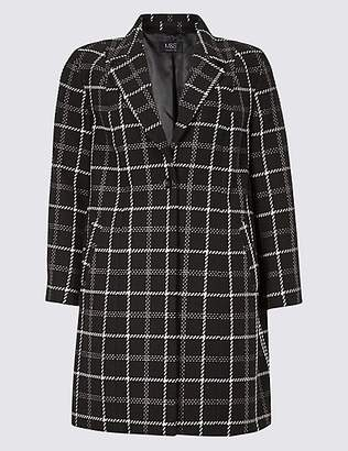 M&S Collection CURVE Cotton Rich Single Breasted Coat