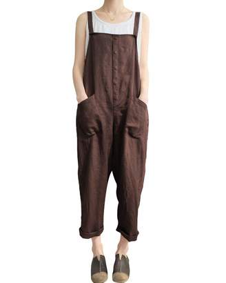 83a70e058487 GZBQ Women Adjustable Strap Overall Sleeveless Playsuit Jumpsuit Dungarees  Romper M