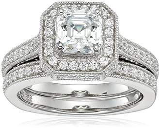 Swarovski Amazon Collection Sterling Silver Cubic Zirconia and Matching Ring, Size 6