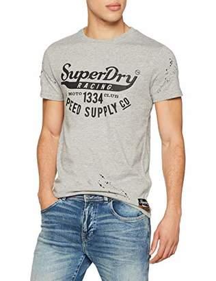 Superdry Men's Customs 3rd Street Pocket Tee Kniited Tank Top, (Biker Grey Grit Vn5), XXX-Large