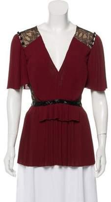 Prabal Gurung Embellished Silk Blouse w/ Tags