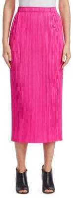 Pleats Please Issey Miyake New Colorful Basics II Pleat Midi Skirt