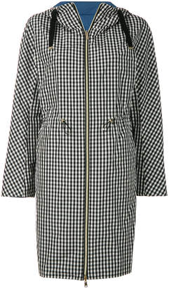Herno hooded check coat