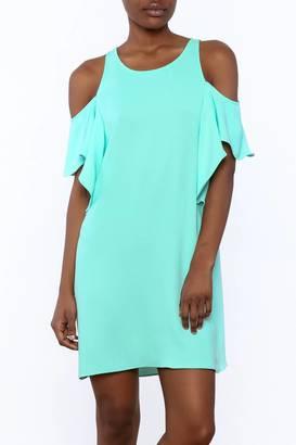 Everly Mint Cold Shoulder Dress $58 thestylecure.com