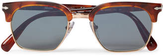 Persol D-Frame Tortoiseshell Acetate And Gold-Tone Sunglasses