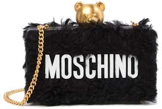 Moschino Mohair Blend Logo Clutch