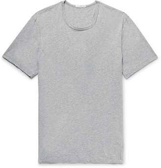 James Perse Slim-Fit Melange Cotton and Cashmere-Blend Jersey T-Shirt - Gray