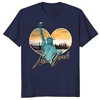 NYC New York City Skyline Souvenir Statue of Liberty T-shirt